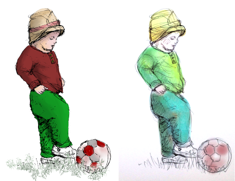 scanned pencil - toddler footie