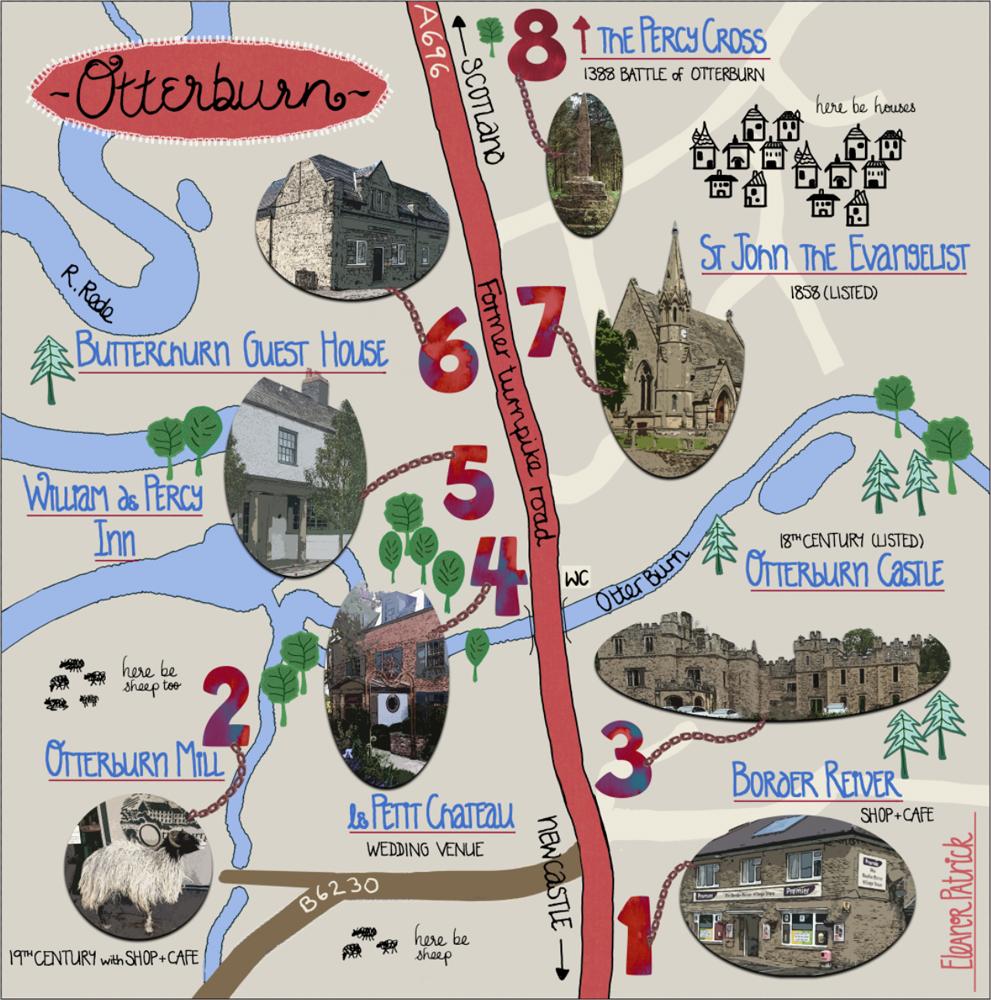 Otterburn map