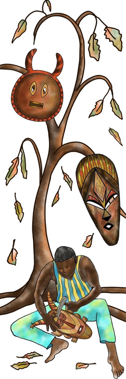 African mask screenshot