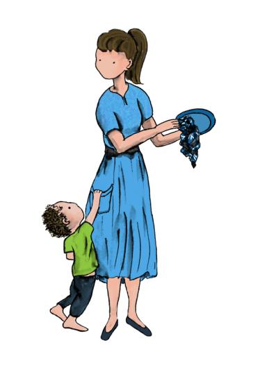 boy and mum