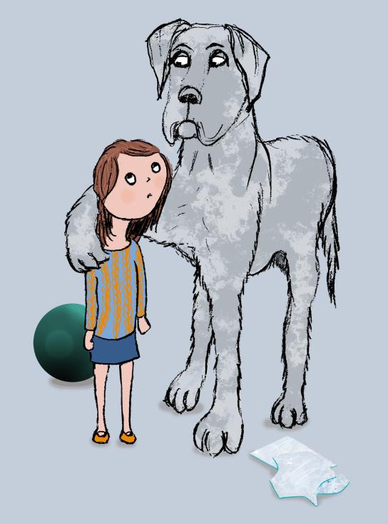 dog and girl flat