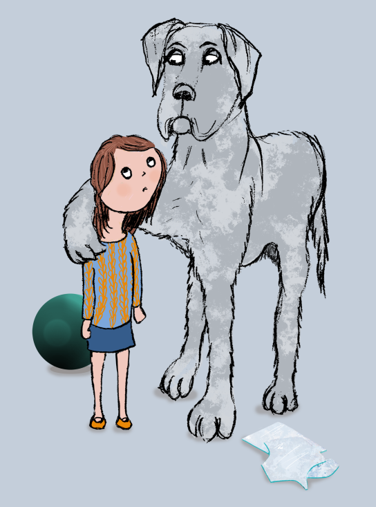 dog and girl flat