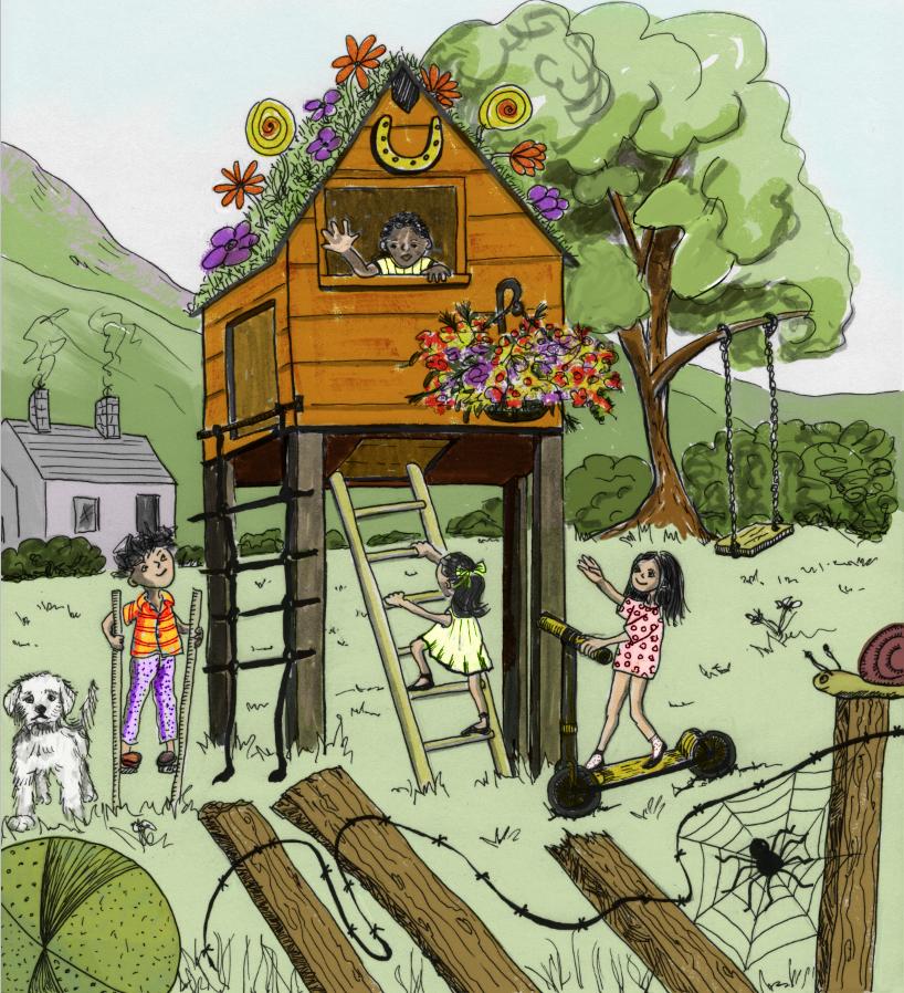flower treehouse fun
