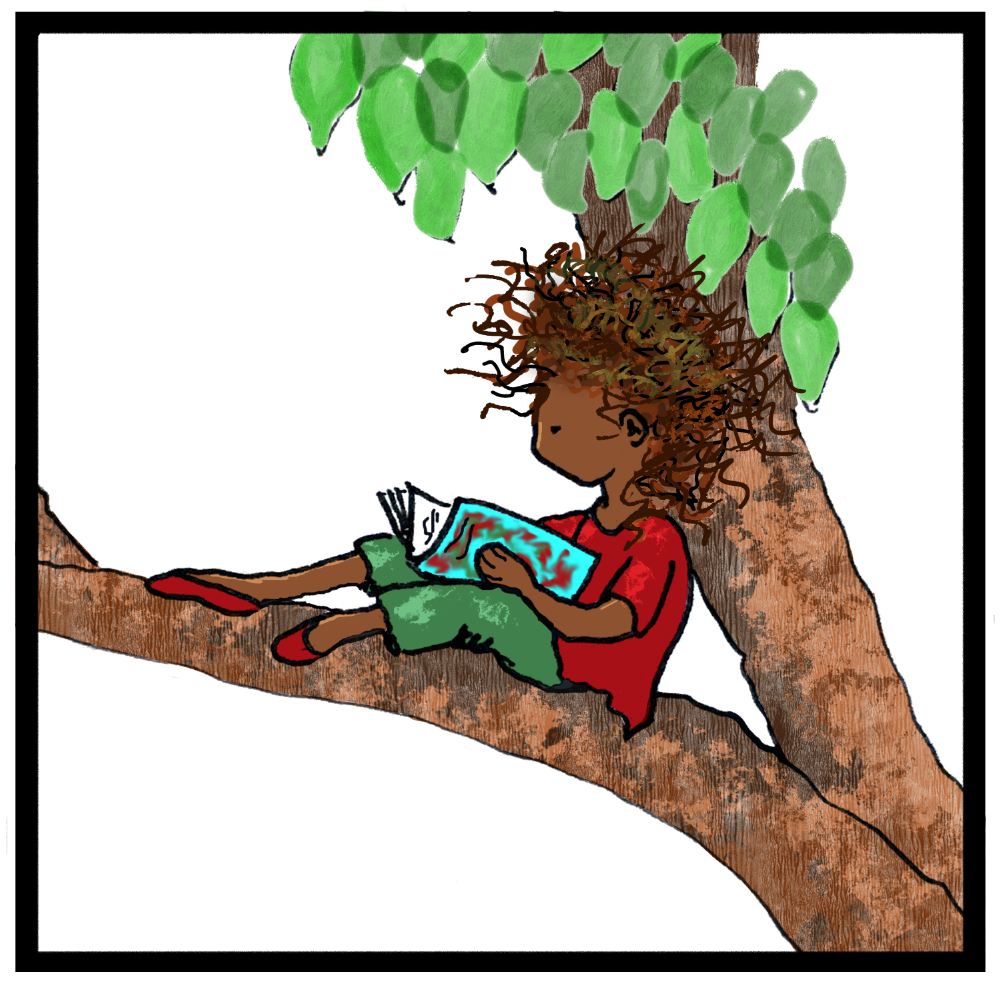 IG girl in tree
