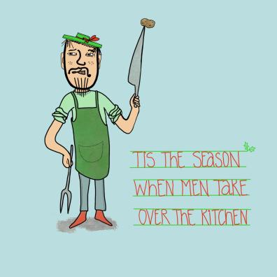 men in kitchen