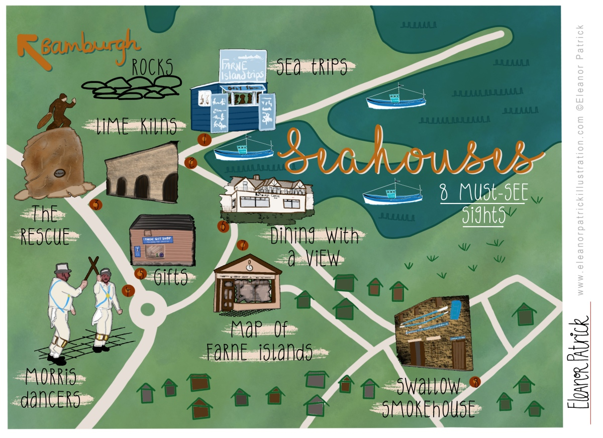 Seahouses Map
