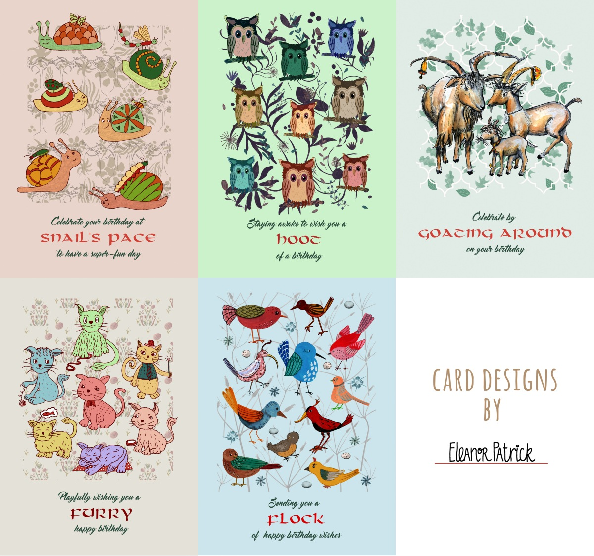animal card designs