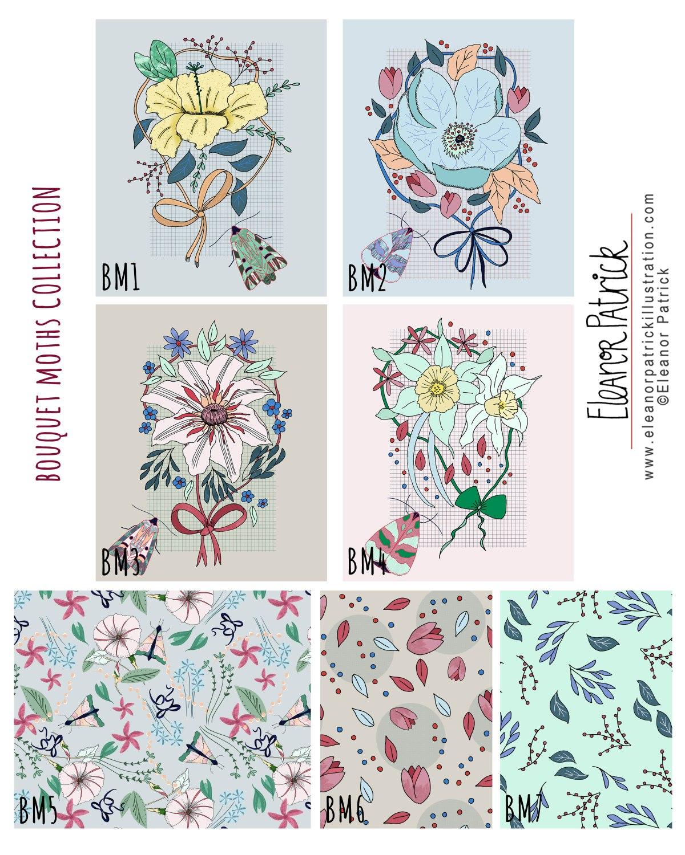bouquet moths collection