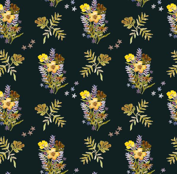 bouquet tile sample
