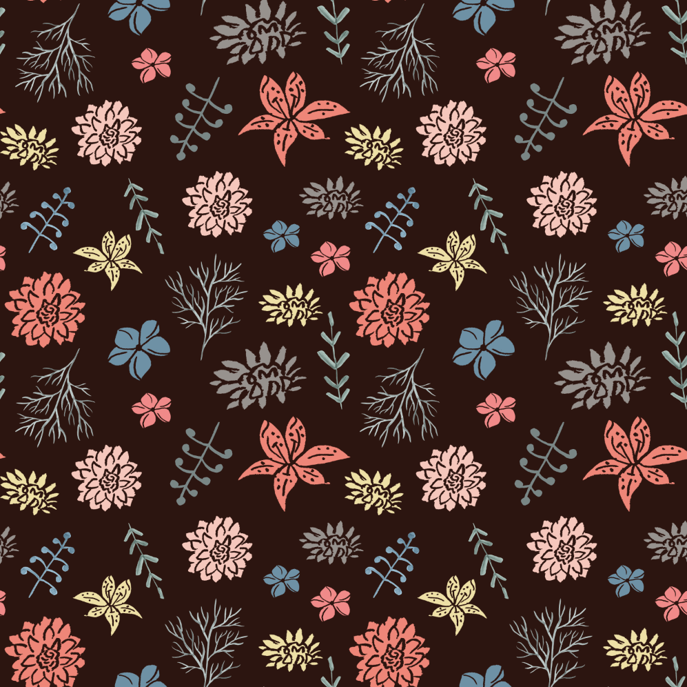 carnation stencil repeat tile screenshot