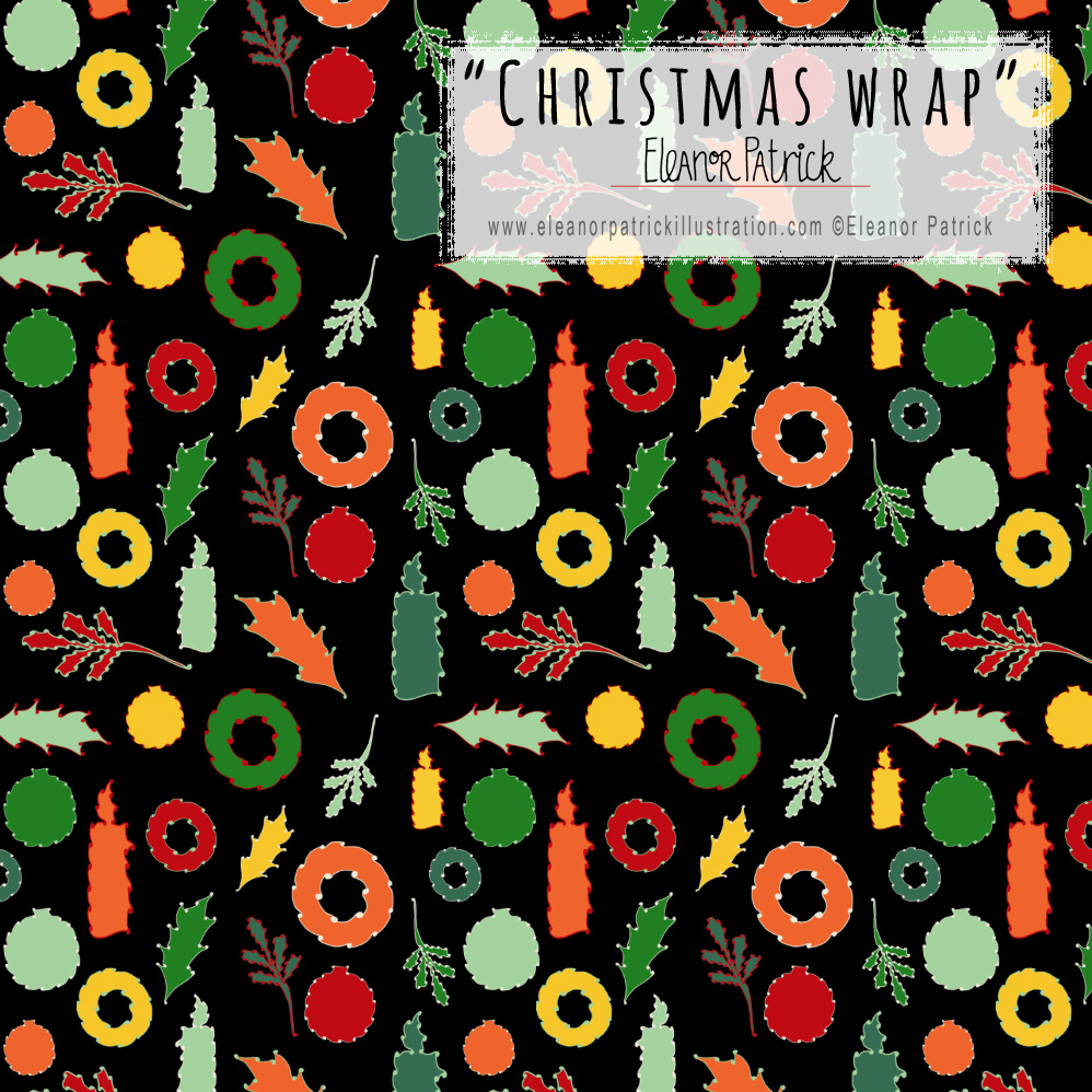 christmas tile wrap on black