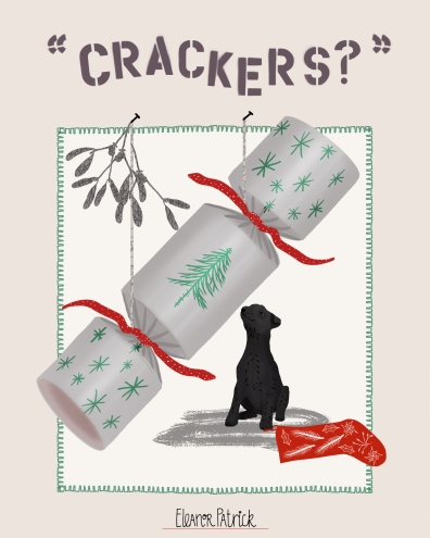 dog cracker card