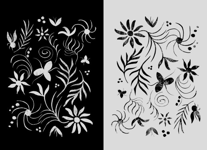 duo pane flowers