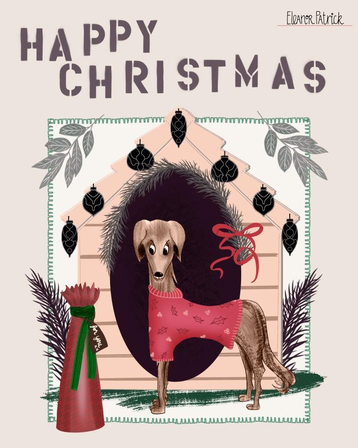 Pet Christmas dog