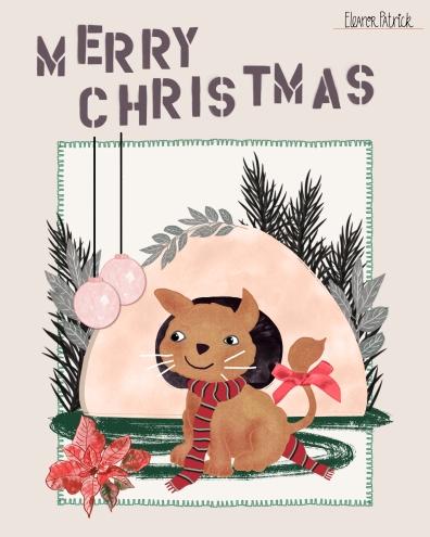 Pet Christmas cat
