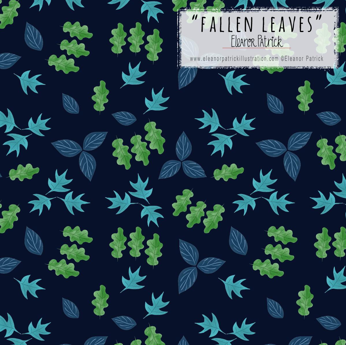 falling leaves blue version