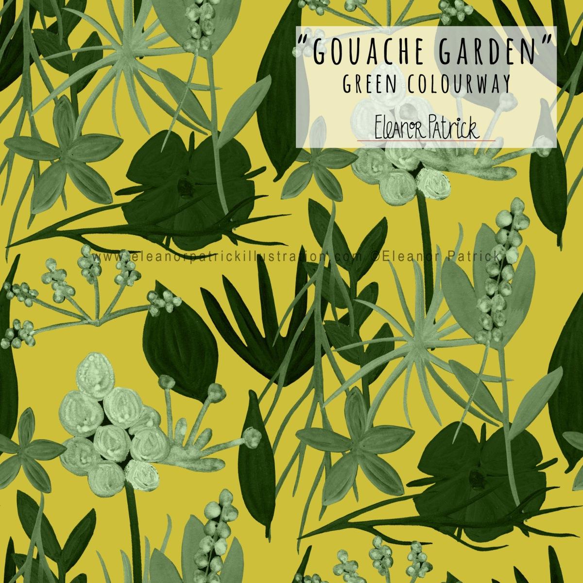 gouache garden green