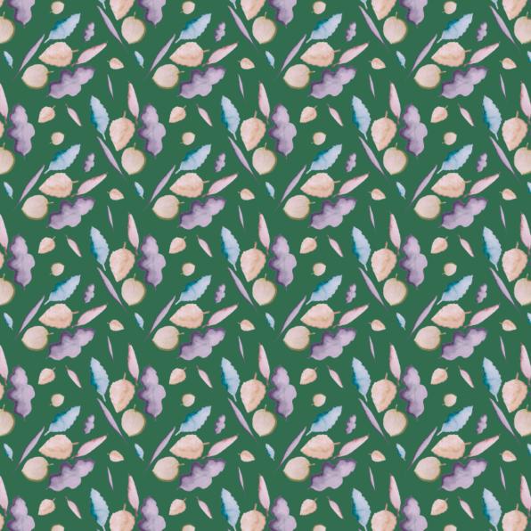 leaves mauve on green