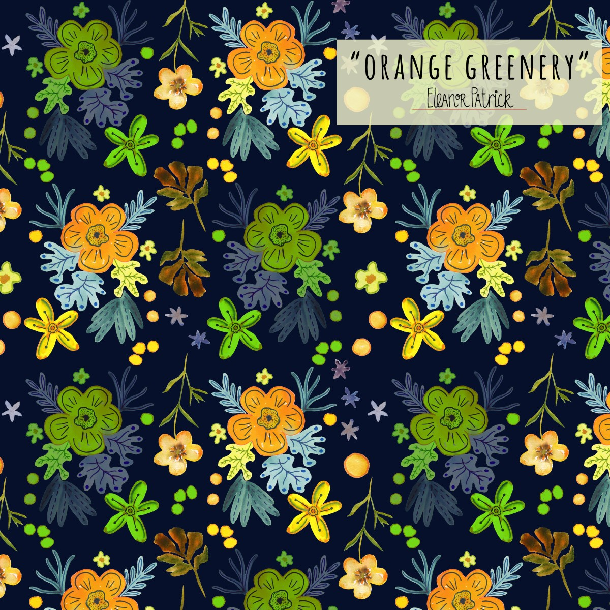 orange greenery sample