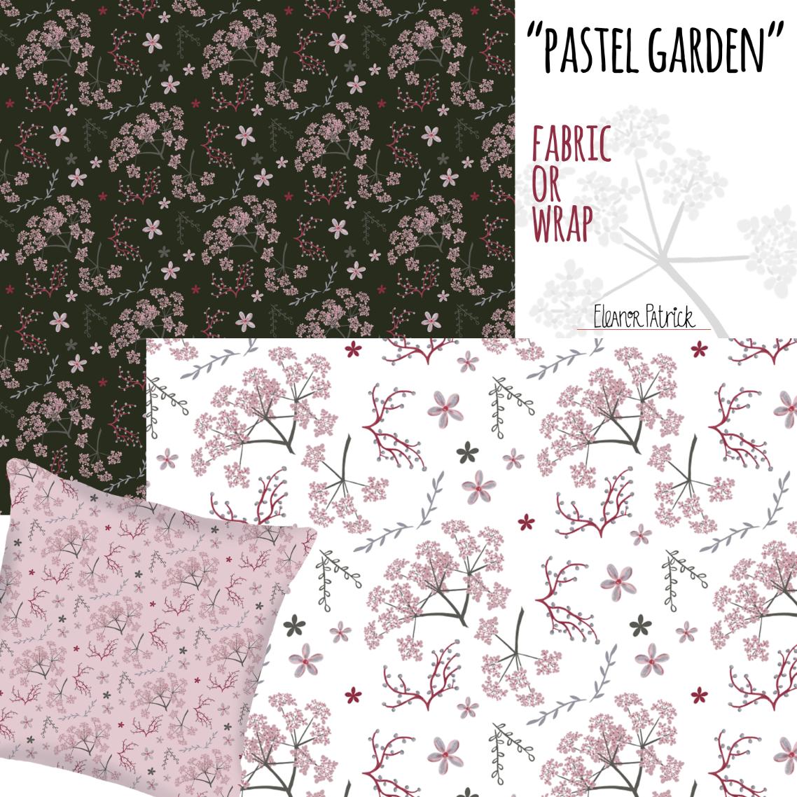Pastel Garden fabric samples