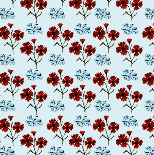 red and blue on pale tile screenshot