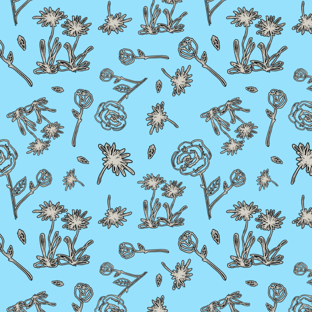 scribble flower pattern