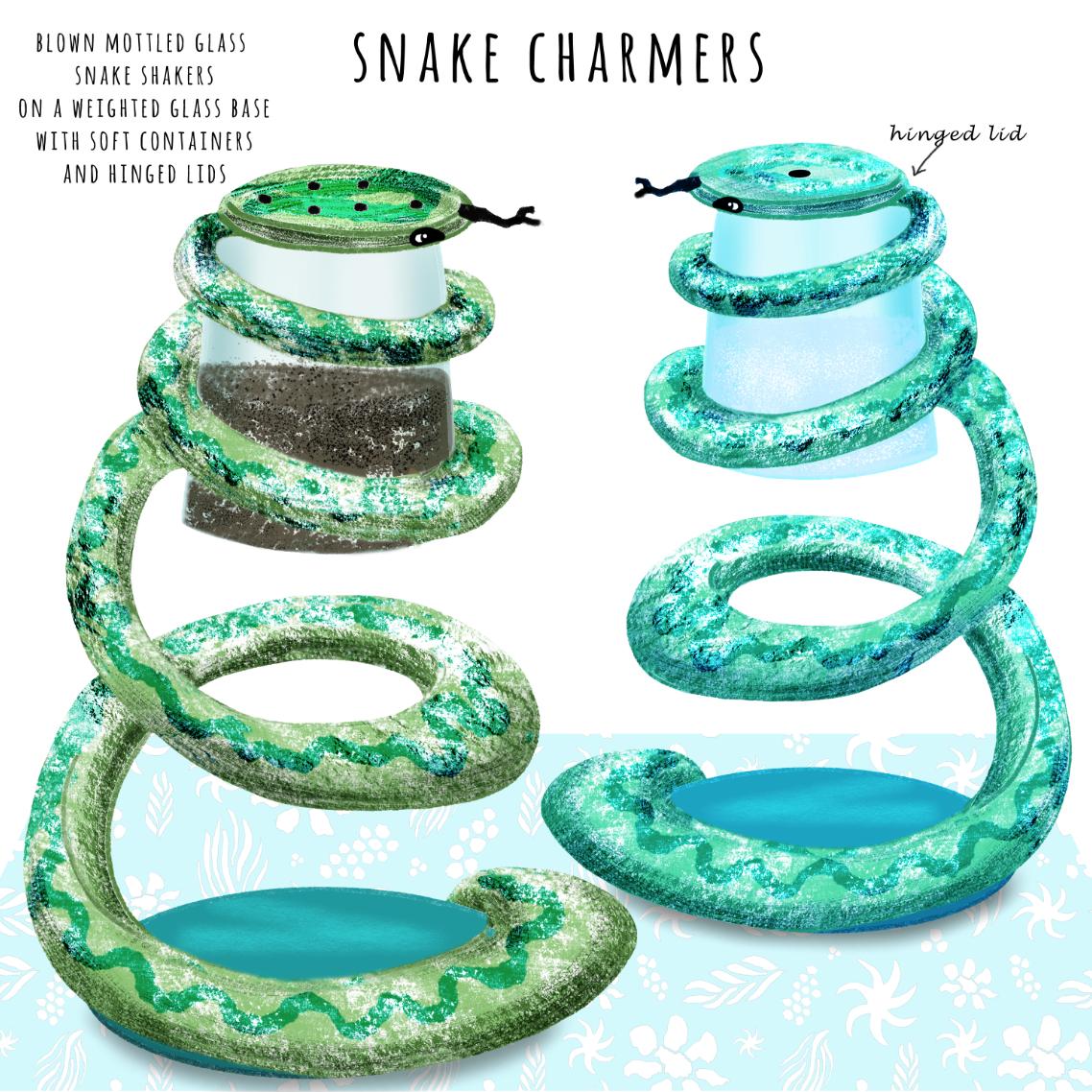 snake charmers cruet set