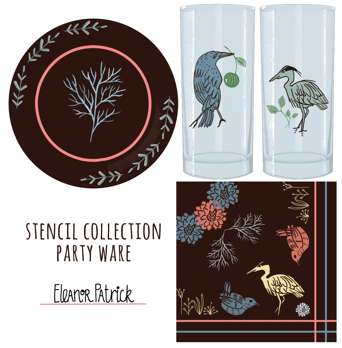 stencil partyware collection