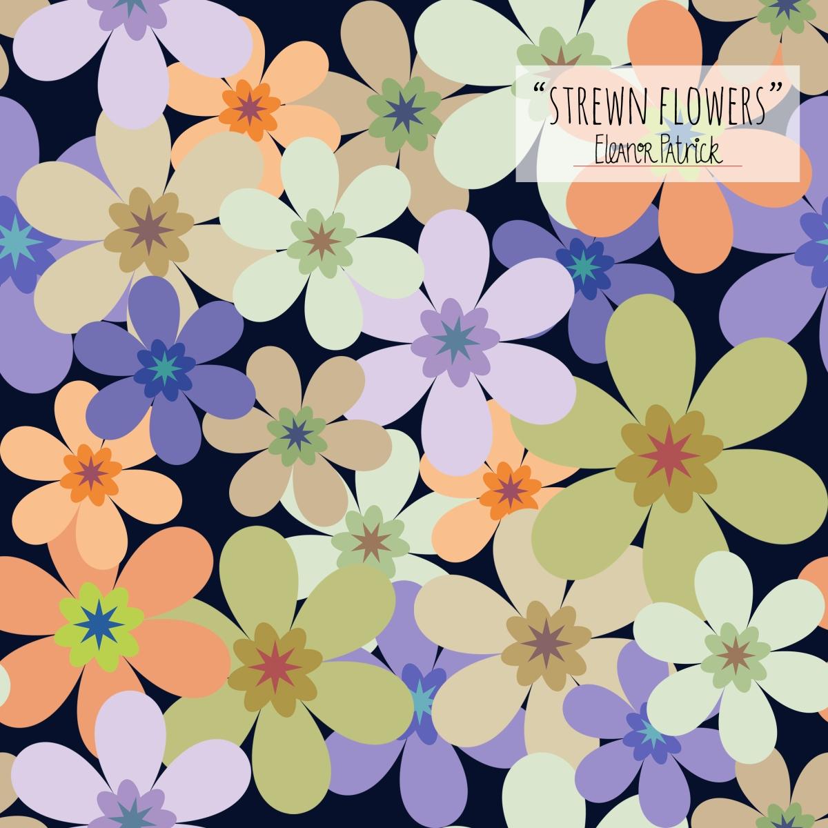 strewn flowers
