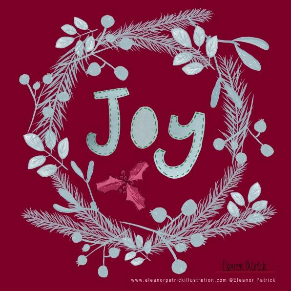 xmas wreath joy