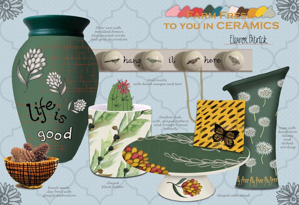 Farm Fresh ceramics board