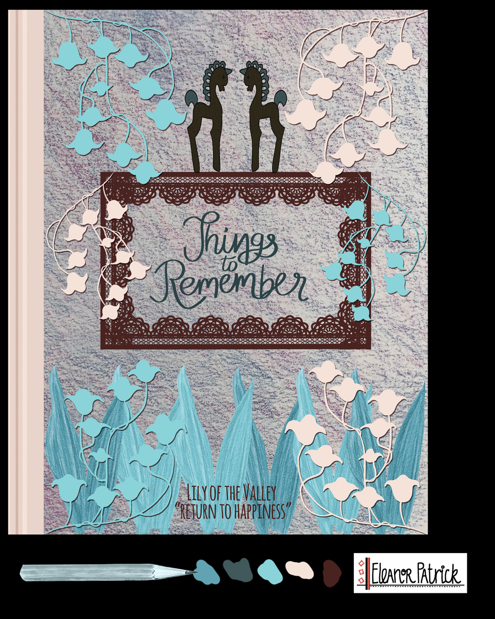 lilies and unicorn journal cover