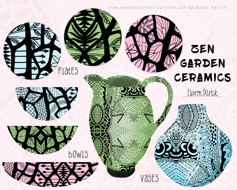 zen garden ceramic board